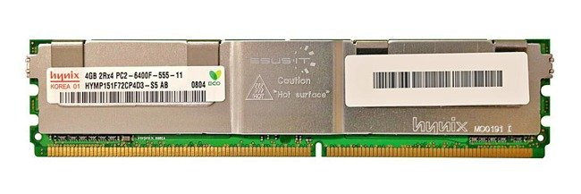Arbeitspeicher 1x 4GB Hynix ECC FULLY BUFFERED DDR2 800MHz PC2-6400 FBDIMM | HYMP151F72CP4D3-S5